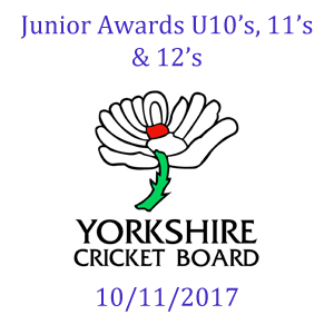 Yorkshire Cricket Board Awards 10/11/2017