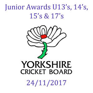 Yorkshire Cricket Board Awards 24/11/2017