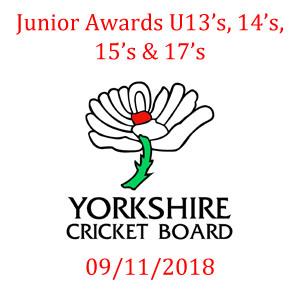 Yorkshire Cricket Board Awards 09/11/2018
