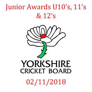 Yorkshire Cricket Board Awards 02/11/2018
